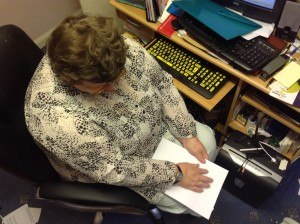 Reading a Braille document