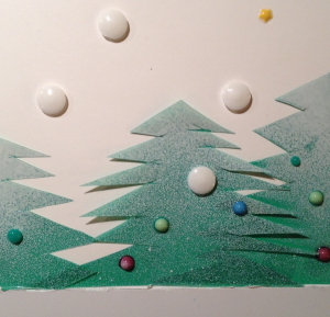 An example of a tactile Christmas card